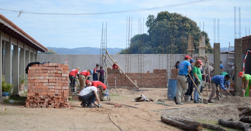 Op de bouwplaats