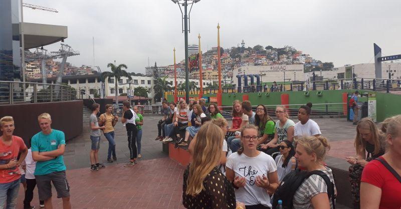 Toerist uithangen in Guayaquil