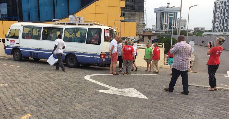 Laatste maaltijdstop in Ghana