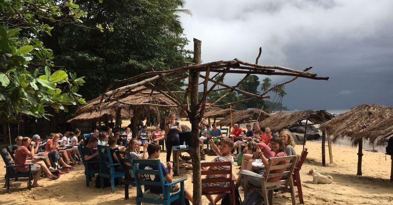 Laatste lunch in Sierra Leone