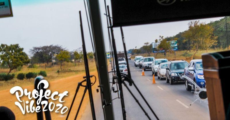 Onderweg in de bus
