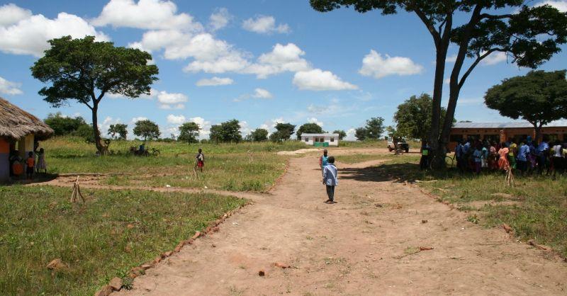 Overzicht van het schoolterrein