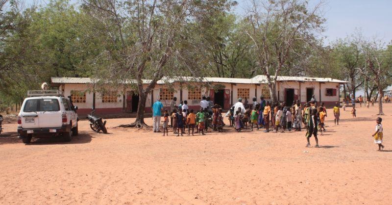 De huidige basisschool in Gbangu