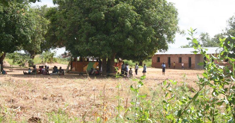Kinderwerk onder de boom