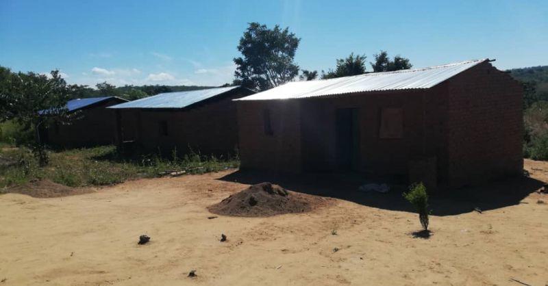 3 teacher houses build by the community
