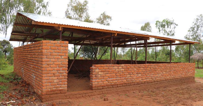 Nieuw schoolblok in aanbouw