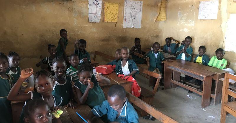 In het oude klaslokaal