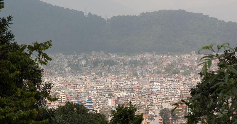 Uitkijken over Kathmandu