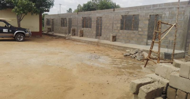 Additional 4 classrooms under construction
