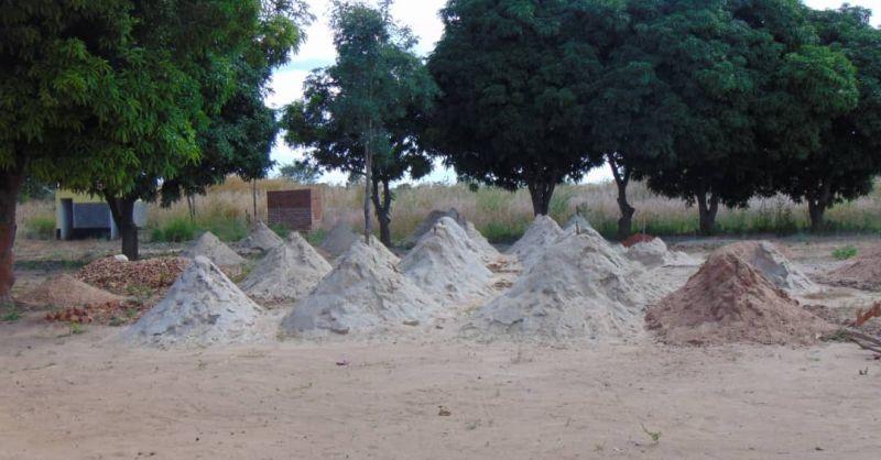Zand voor het cement