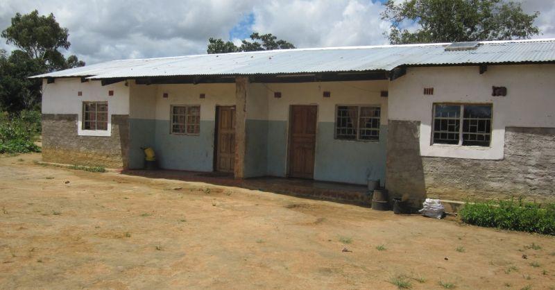 De kliniek die eerder is gebouwd door World Servants