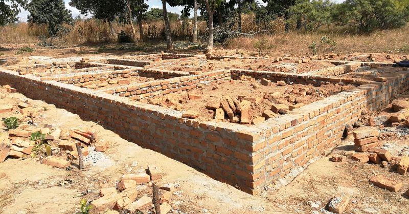 Foundation for 1st teacher house