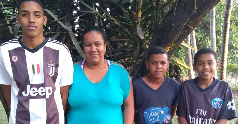 Mariana with her sons