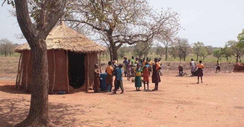 Typische woningen in Noord Ghana