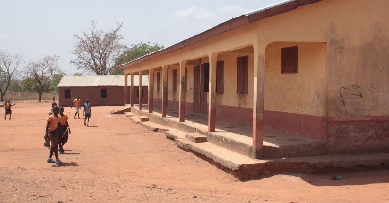 De achterzijde van de goede klaslokalen