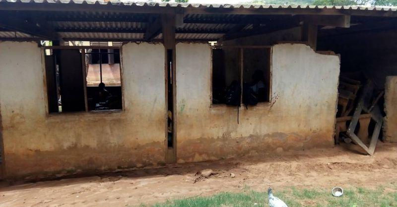 Huidige staat van de klaslokalen - voorzijde