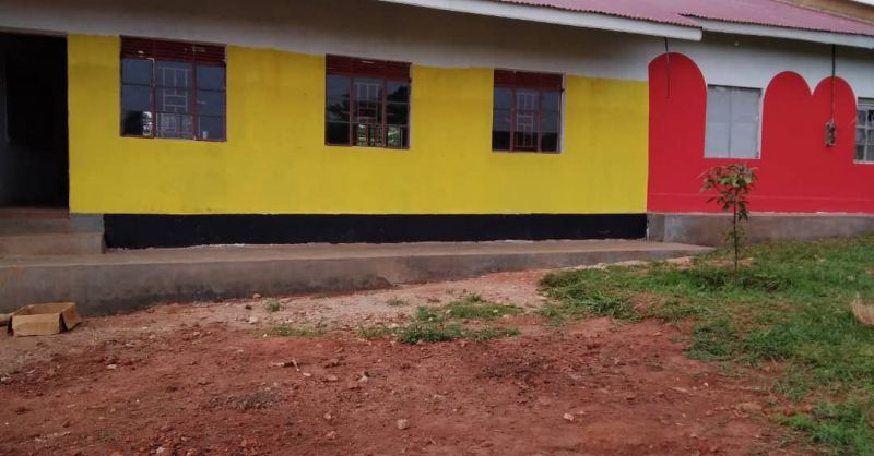 Finishing touch on the classrooms of the ECD