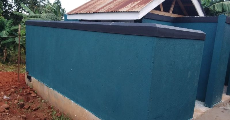 Painted latrine block for ECD