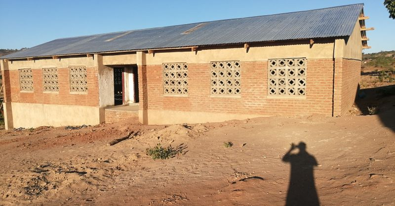 The classroomblock is now plastered
