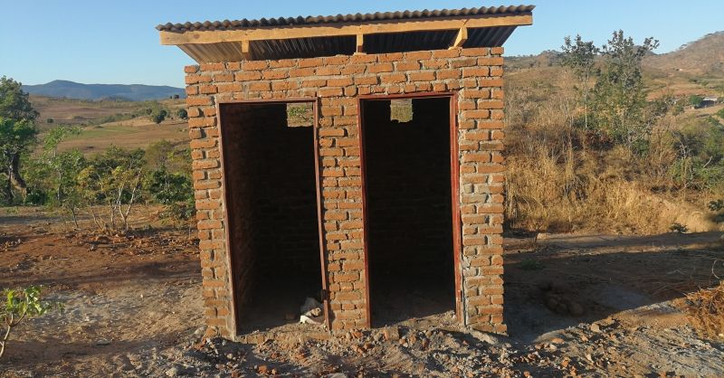 Latrines have a roof now and only require beam filling
