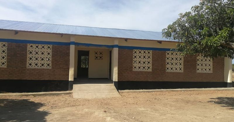 Front view of Classroomblock