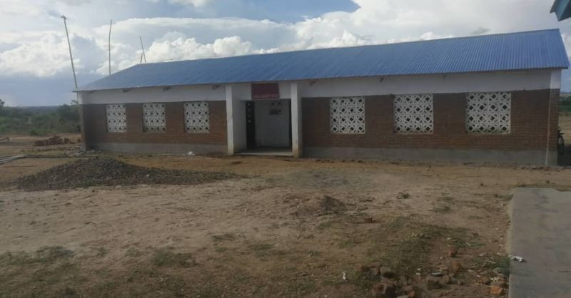 Front view on the new classroom block