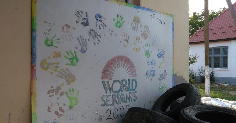 Muurschildering OE205