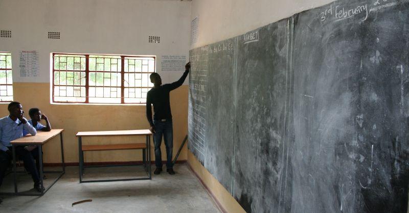 Les in de nieuwe klaslokalen