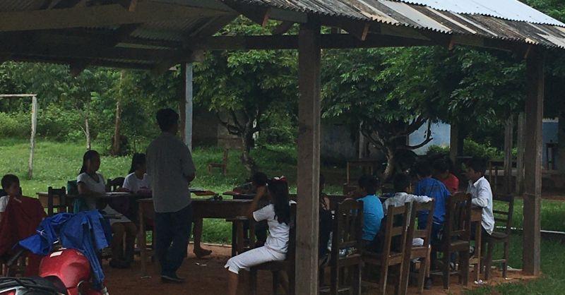 Semi open lucht onderwijs