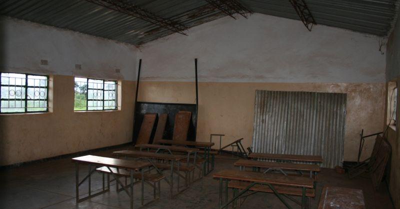 De school was helaas al uit, dus geen kinderen in de klas
