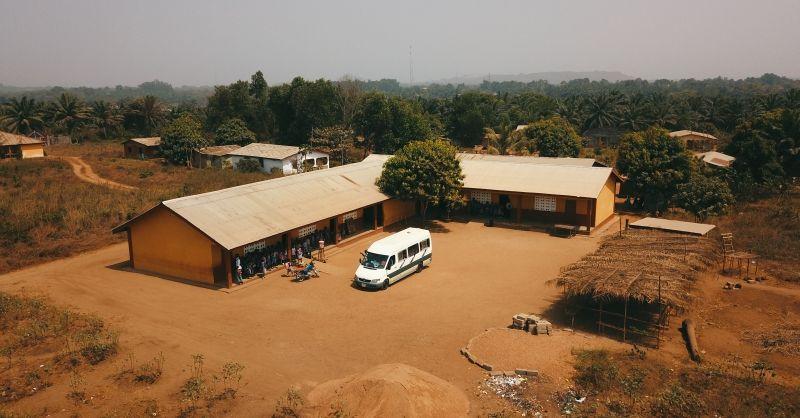 Luchtfoto school