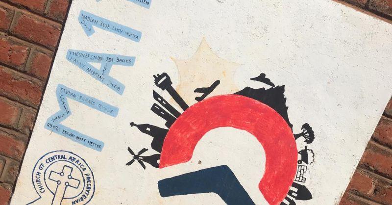 Logo gemaakt door de groep is nog goed zichtbaar