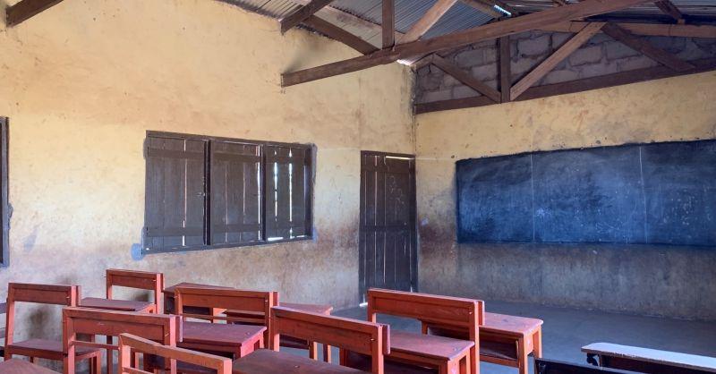 Klaslokaal in het nieuwe gebouw