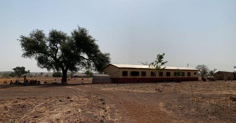 De achterzijde van het nieuwe gebouw
