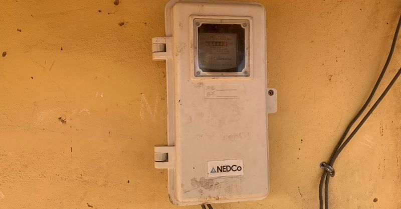 Elektriciteitsmeter aan bestaand klaslokalenblok