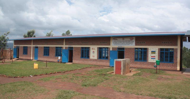 De nieuwe klaslokalen