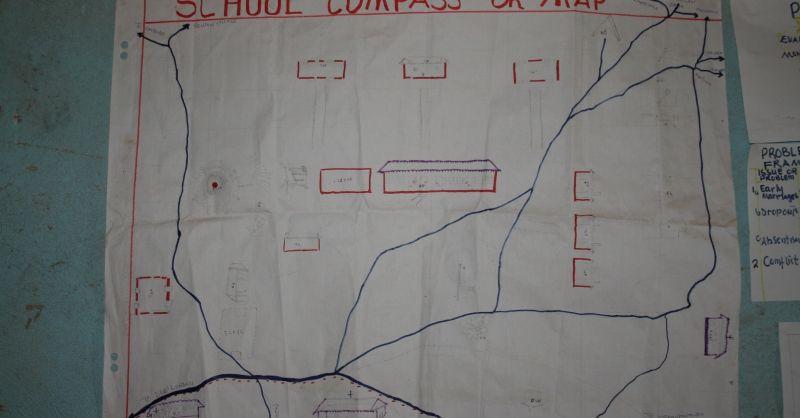 Kaart van het schoolterrein