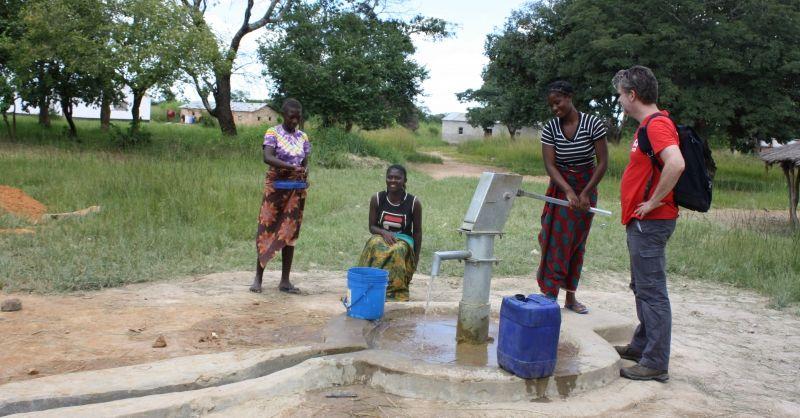 De nieuwe waterpomp
