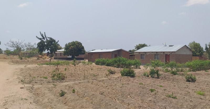 Teachers houses built by community