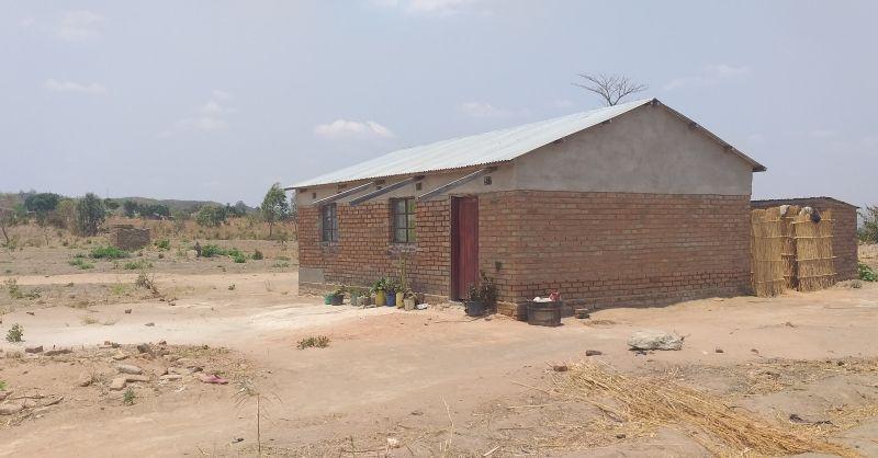 Teachers house built by community