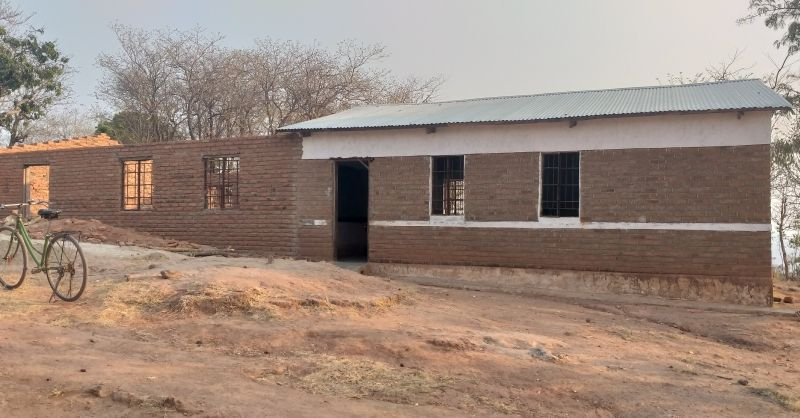 New school block with two classrooms