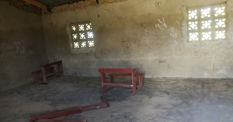 View from inside classroom