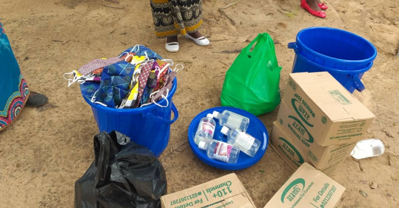 Prevention materials at Kanjazi
