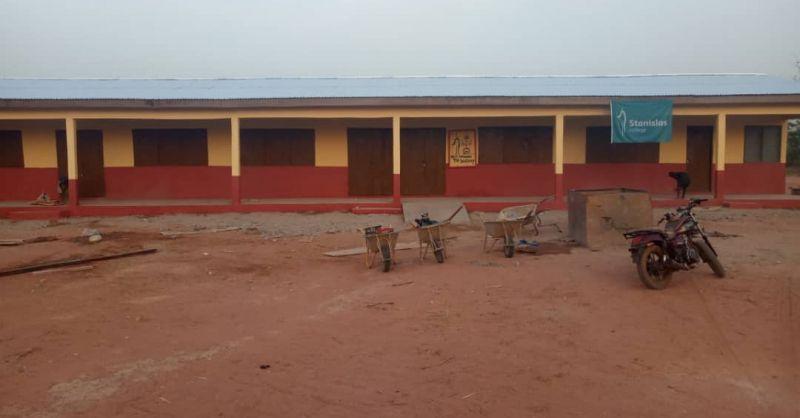 Voorzijde klaslokalen