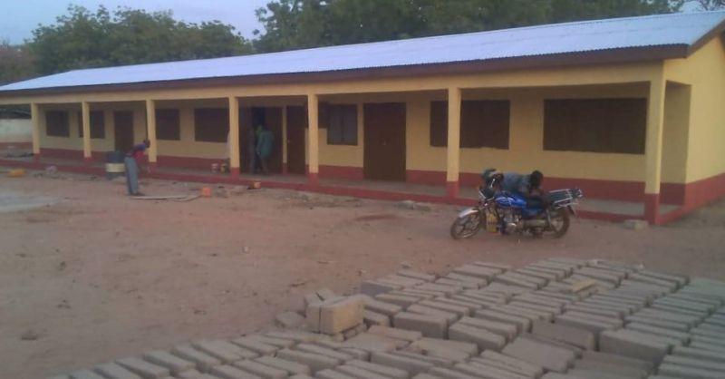 Vooraanzicht klaslokalen