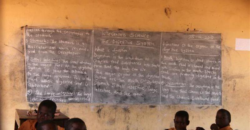 Schoolbord in klaslokaal