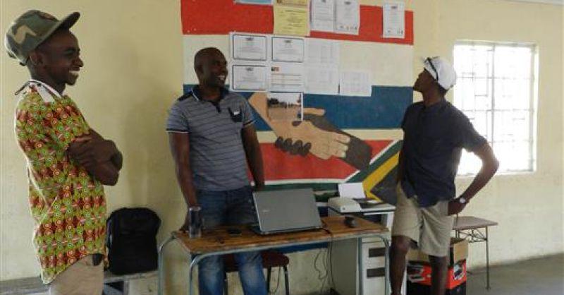 In gesprek met Simanga (coordinator van ZDC)