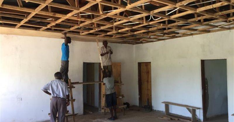 Het plafond in de kliniek