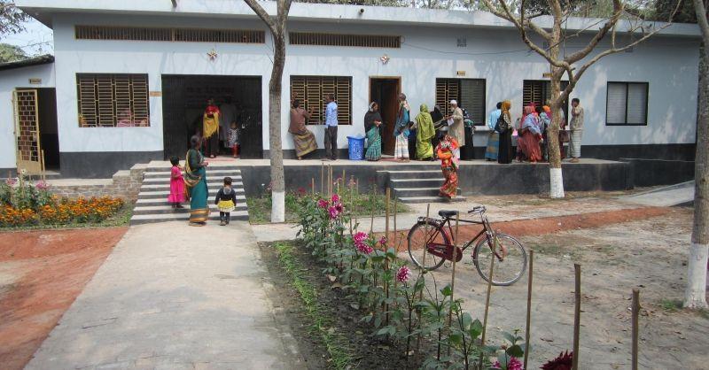 Buitenzijde van de kliniek
