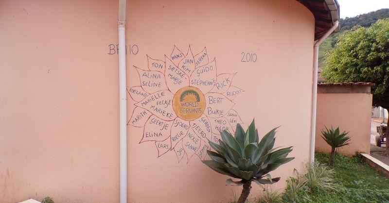 BR110 bloeit nog op de muur